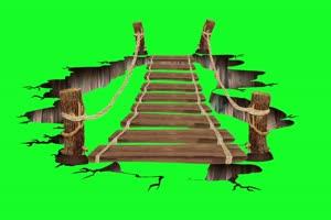 过桥素材 破碎 AE 巧影 跳绿布和绿幕视频抠像素材