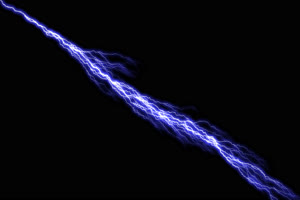 4K闪电 雷击 电击 透明通道 视频特效 抠像素材手机特效图片