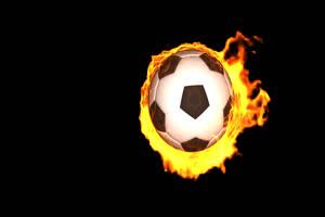 火焰足球手机特效图片