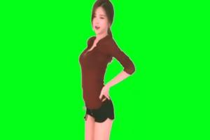 美女跳舞 热舞绿布和绿幕视频抠像素材