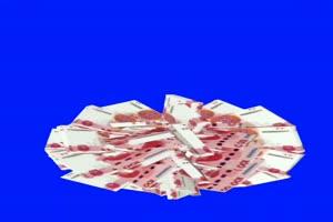 美女观音菩萨 人民币旋转 绿幕素材 巧影素材 特手机特效图片