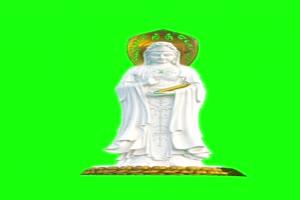 佛主 观音 菩萨 绿屏抠像