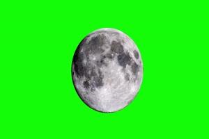 绿屏中的月球 中秋节专题
