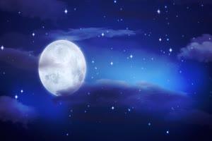 月色海面8 星空 月亮 夜晚 背景素材手机特效图片