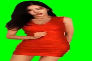 美女热舞跳舞素材 5 绿屏