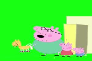 猪爸爸骑马 小猪佩奇 大热