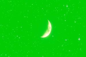 月亮星空绿屏 中秋节专题