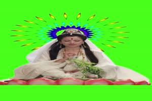 观音 美女绿布和绿幕视频抠像素材