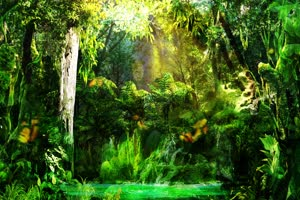 唯美森林 巧影 AE 背景素材手机特效图片