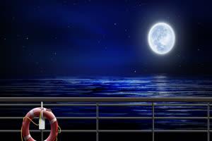 月色海面15 星空 月亮 夜晚 背景素材手机特效图片