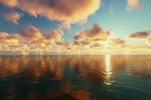 极品海天一色 海洋天空 视频背景素材 唯美至极 3