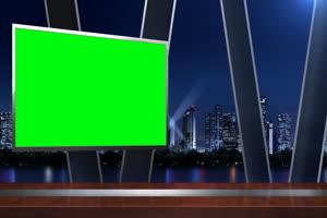 虚拟直播间 新闻演播室8 透明通道Alpha 抠像素材
