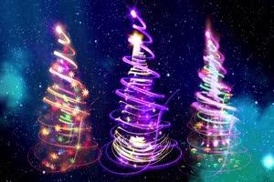 炫彩圣诞树 特效牛 视频素