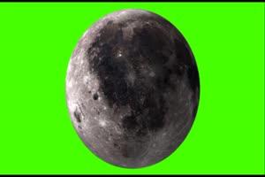 月球的表面 中秋节专题素绿布和绿幕视频抠像素材