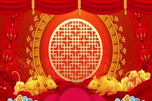 2020鼠年 元旦节 春节 新年 16拜年片头年会开场手机特效图片