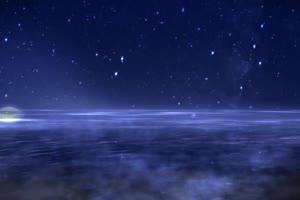 月色海面23 星空 月亮 夜晚 背景素材手机特效图片