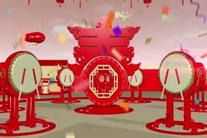 2喜庆22年鼠年春晚片头 有音乐 春节新年素材 视手机特效图片