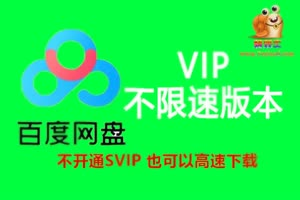 百度网盘SVIP版本  不限速高速下载 提取码 pj8v