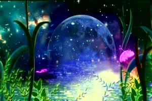 月色美景 背景素材 中秋节素材手机特效图片