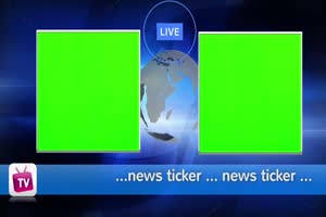 虚拟直播间 演播室 背景 绿屏抠像 AE巧影 特效素手机特效图片