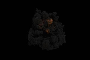 爆炸 烟雾 烟尘 炸裂 免抠像 特效素材 110手机特效图片