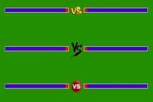 血条 生命值 真人拳皇对战 对打 VS 街机游戏 绿幕