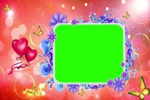 爱心 相框 绿屏抠像 巧影AE 特效素材 1手机特效图片