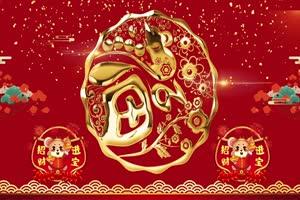 2020鼠年 元旦节 春节 新年 10拜年片头年会开场手机特效图片