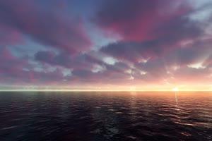 极品海天一色 海洋天空 视频背景素材 唯美至极 9