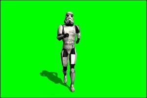 星球大战 帝国冲锋队 战士 5 绿屏绿幕特效抠像素手机特效图片