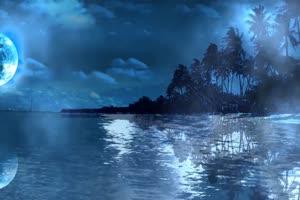 高升的圆月 中秋节素材  星空手机特效图片