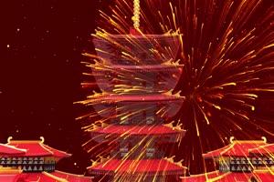2020鼠年 元旦节 春节 新年 18拜年片头年会开场手机特效图片