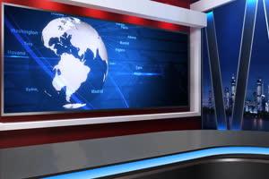 虚拟直播间 新闻演播室