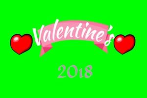 2018 情人节 1爱心 520 绿屏抠像素材手机特效图片