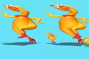 跳舞鸡 小黄鸡 跳舞动物手机特效图片