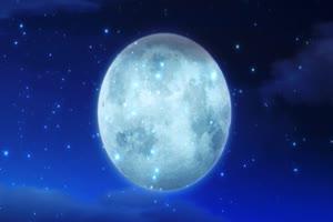 圆月亮动态舞台背景 背景素材 中秋节素材手机特效图片