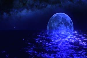 月色海面14有音乐 星空 月亮 夜晚 背景素材手机特效图片