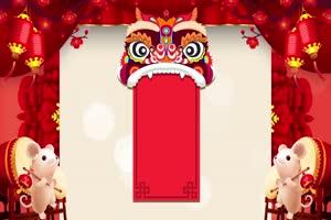 2020鼠年 元旦节 春节 新年 22拜年片头年会开场手机特效图片