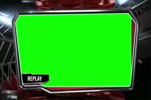 回放 虚拟直播间 演播室 背景 绿屏抠像 AE巧影手机特效图片