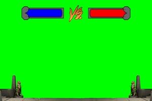 血条 对战 对打  VS 拳皇街机游戏 特效后期绿屏抠手机特效图片