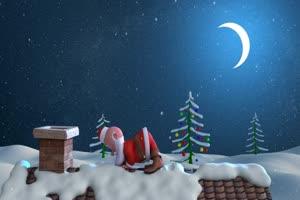 圣诞老人 特效牛 视频素材绿布和绿幕视频抠像素材