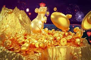 2020鼠年 元旦节 春节 新年 21拜年片头年会开场手机特效图片