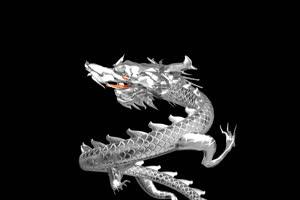 中国龙 金龙飞舞 喜庆银龙绿布和绿幕视频抠像素材
