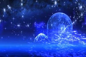 月色海面24 星空 月亮 夜晚 背景素材手机特效图片