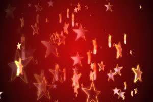 上升的圣诞五角星背景素