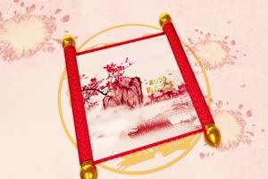 11中国风水墨鼠年大吉 有音乐 春节新年素材 视频手机特效图片
