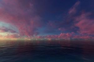 极品海天一色 海洋天空 视频背景素材 唯美至极 5