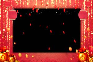 07 红包雨拜年边框 春节