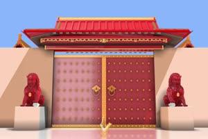 2020鼠年 元旦节 春节 新年 17拜年片头年会开场手机特效图片