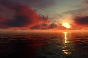 极品海天一色 海洋天空 视频背景素材 唯美至极 7